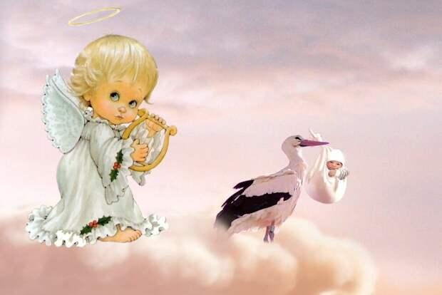 Ангел-Хранитель и рождение нового человека. Коллаж автора