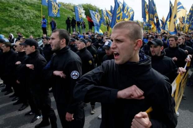Опубликовано видео тренировки под Киевом сотен вооруженных неонацистов