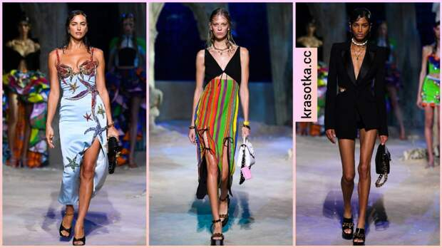20 трендовых образов с новой коллекции от Versace весна-лето 2021