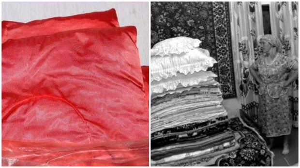 Помпезное пуховое одеяло тоже считалось неплохим приданым.