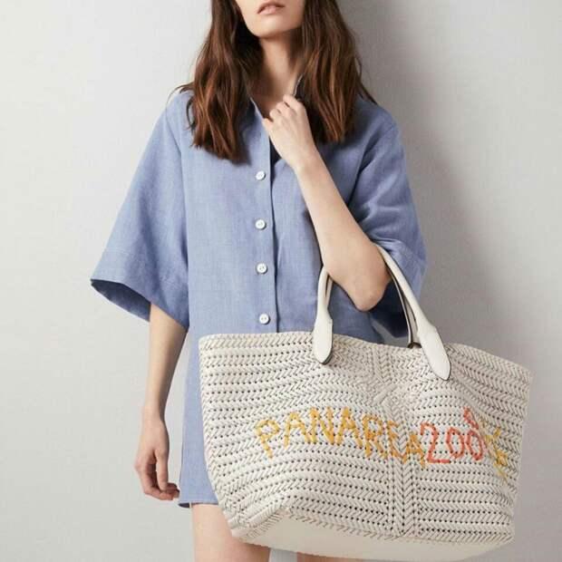 Пляжная сумка с вышивкой
