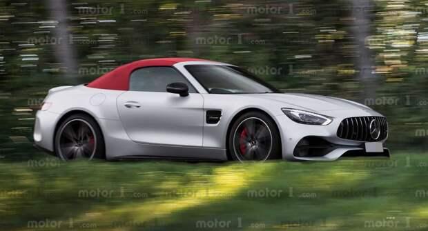 Показаны первые изображения Mercedes SL-класса нового поколения