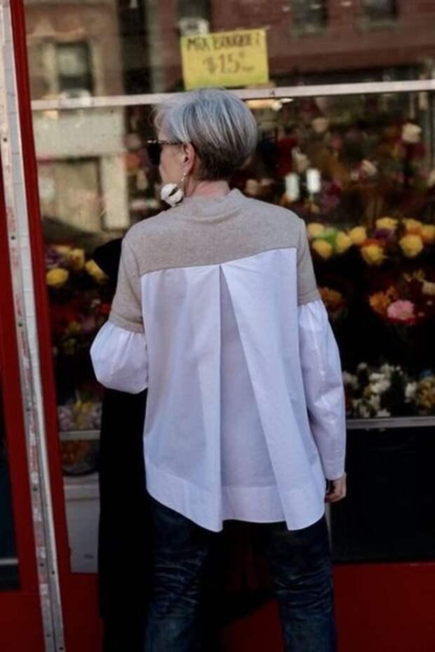 Свитшот с рубашечной спинкой