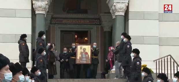 Главная икона покровителя морской пехоты будет храниться в Севастополе