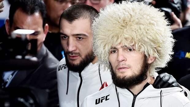 Хабиб отреагировал на первую победу двоюродного брата в UFC