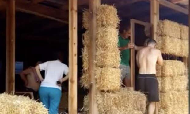 Семья построила дом из соломы и рассмешила соседей. Прошел год и они переехали в такой же: солома оказалась лучше кирпича
