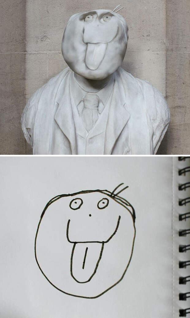 Отец показал, как выгляделибы персонажи детских рисунков вреальной жизни