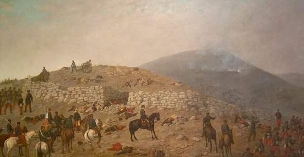 Чилийцы взяли высоту Сан-Хуан, 1881 год. Художник: Juan Mochi