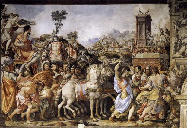 Франческо Сальвиати. Триумф Фурия Камилла (1545). Палаццо Веккьо, Флоренция - Жизнь за победу   Warspot.ru