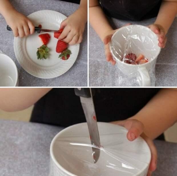 Вот как использовать пищевую пленку! несколько хитрых способов применения чудо-материала.