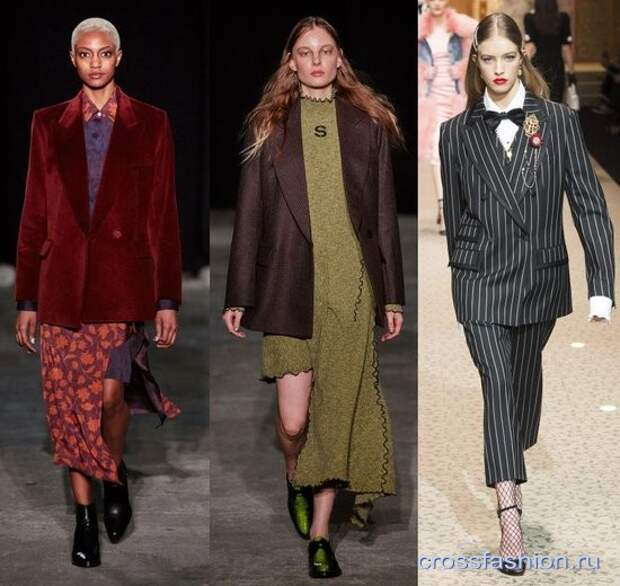 Модные жакеты осень-зима 2018-2019: силуэты, фасоны и актуальная комбинаторика