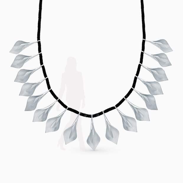 Колье SL, серебро