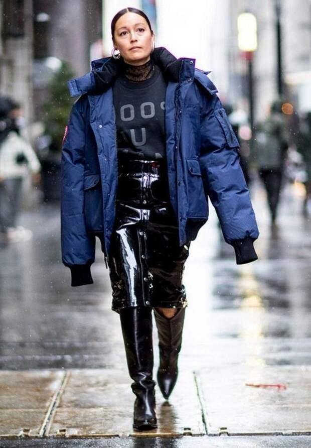 С чем носить модные ковбойские сапоги этой зимой