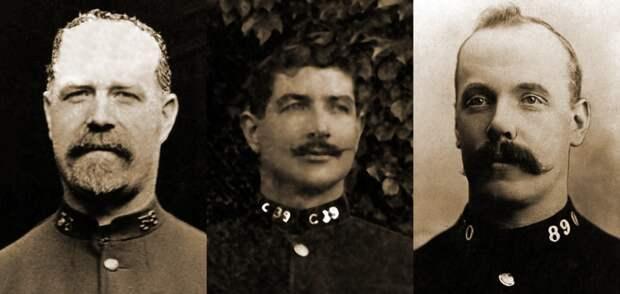Полицейские, погибшие 16 декабря 1910 года на улице Хаунсдвич. <br>