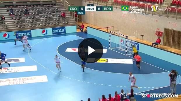 Croácia 24 x 21 Brasil - Melhores Momentos Final HEP Croacia Cup 2021 (16/04/2021)