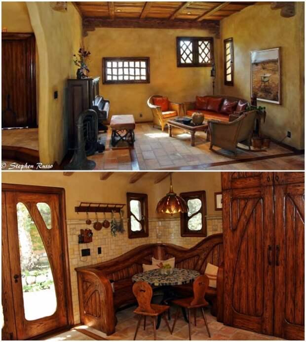 Обновленная гостиная-прихожая «Ведьминого дома» (Беверли-Хиллз, Лос-Анджелес).