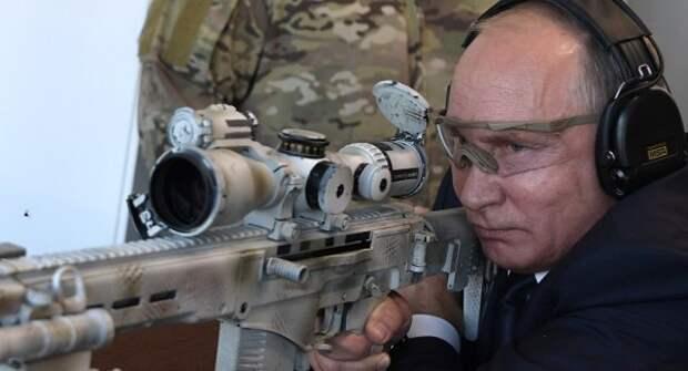 Владимир Путин стрелял из снайперской винтовки и попал! (ВИДЕО)