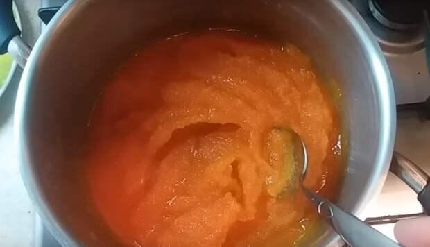 мармелад из тыквы и яблок