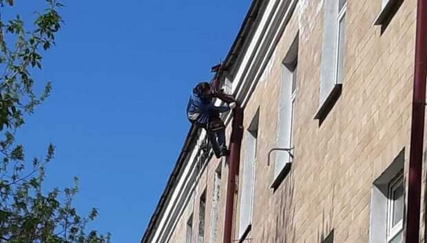 В Подольской детской городской больнице отремонтировали водосток