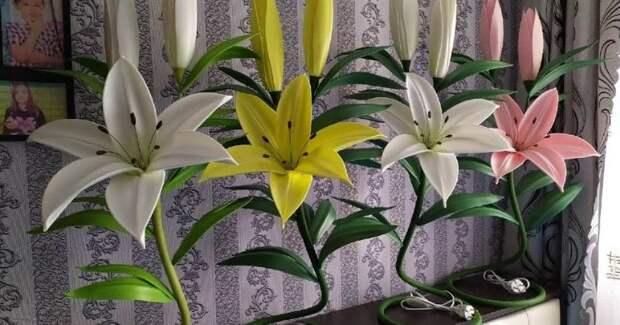 Волшебная красота из изолона! Очаровательные лилии для декора