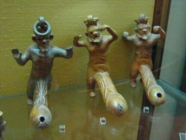 Фигурки бога Приапа с подставкой для курения благовоний в виде фаллоса. археология, история, расследование, тайны