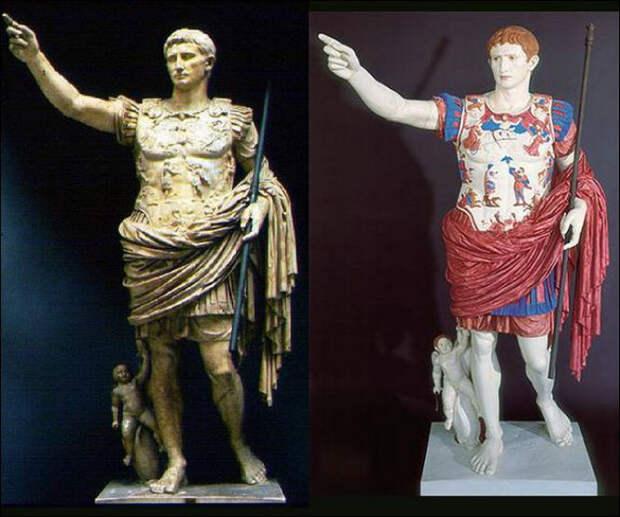 Как на самом деле выглядели античные статуи.