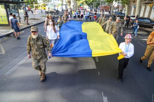 Судя по «маршу», защитников незалежности в Одессе практически нет