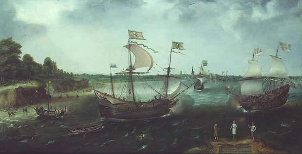 К. ван Виринген. Нападение английского приватира на голландцев