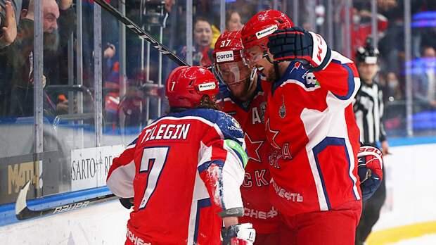 ЦСКА победил СКА в первом матче серии в полуфинале Кубка Гагарина