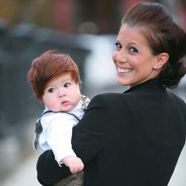 15 милых детишек, родившихся сшикарными шевелюрами