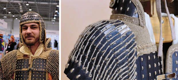 По своему внешнему виду ламеллярный шлем хунну напоминает «чепчик» из стальных пластин, снабженный назатыльником и наушами. Фото С. Борисенко