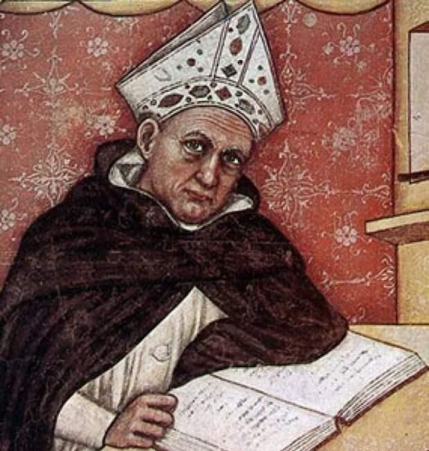 Томмазо да Модена. Альберт Великий. Фреска. 1352