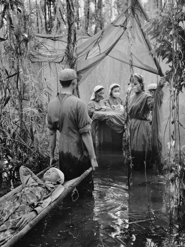 Временный госпиталь на болоте, Вьетнам история, люди, редкие, фото