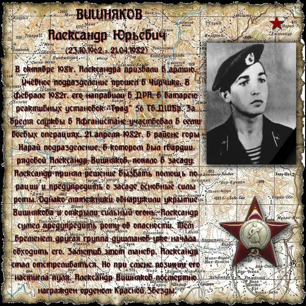 Рядовой ВИШНЯКОВ Александр Юрьевич