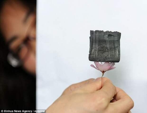 Самый легкий в мире твердый материал (4 фото)
