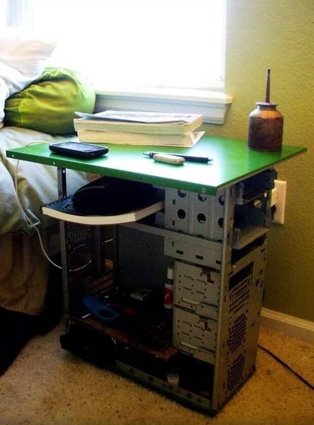 14. Прикроватная тумбочка в общагу, например компьютер, новая жизнь старых вещей, процессор, своими руками, системный блок