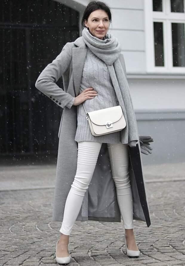 Как нужно носит серую одежду, чтобы образ не смотрелся скучно