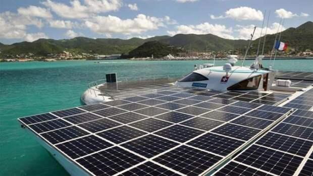 Самый крупный корабль на солнечной энергии способен пересечь Атлантику за 22 дня