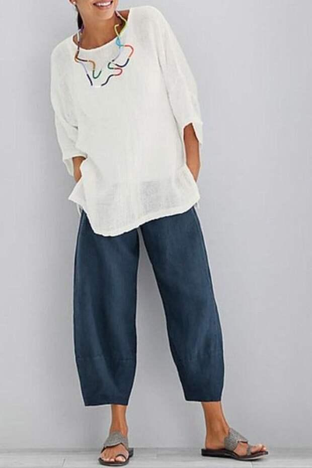 выкройка штанов летних брюк женских