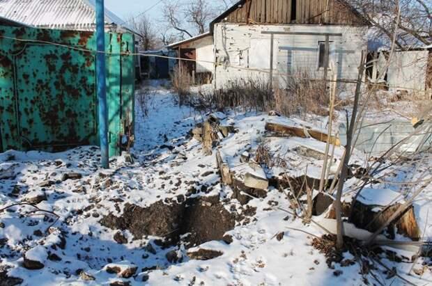 Донецк, село Спартак, улица Чапаева. Здесь живут люди, а не мишени для украинской армии.