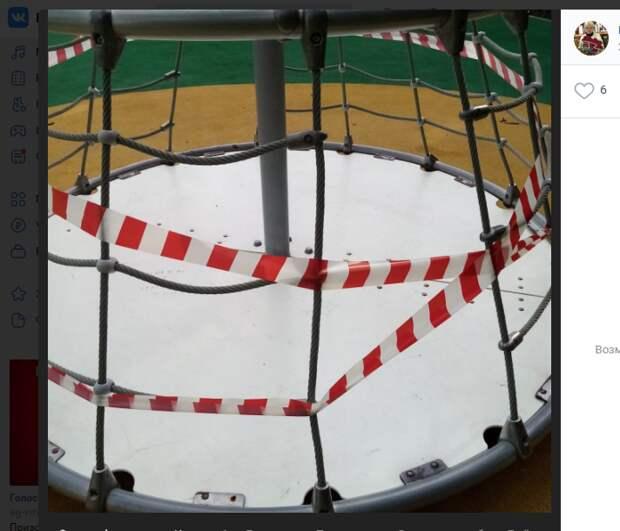 Детскую площадку в Некрасовском парке разгромили