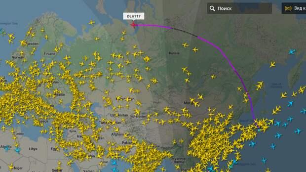 Почему самолеты из Японии в Европу летают через нашу Арктику, да еще и платят за это деньги