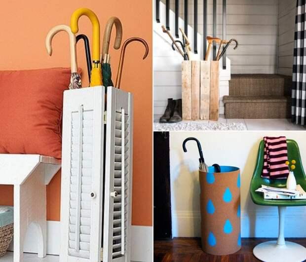 Креативные идеи подставок для зонтов