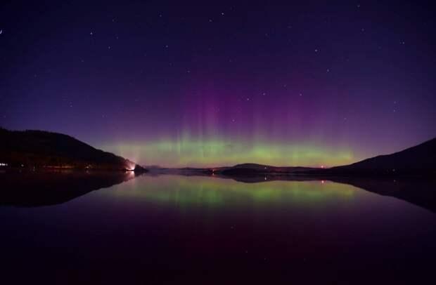 Озеро Бассентуэйт, национальный парк Лейк-Дистрикт (Озерный край), Англия великобритания, корональная дыра, красивые фотографии, небо, природное явление, северное сияние, шотландия