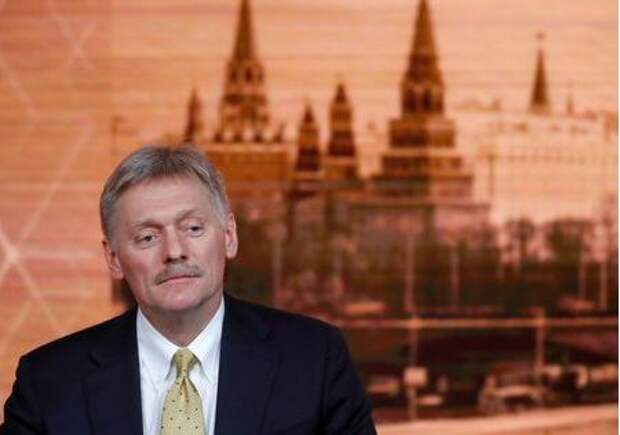 Kremlin spokesman Dmitry Peskov listens during Russian President Vladimir Putin's annual end-of-year news conference in Moscow, Russia December 19, 2019. REUTERS/Evgenia Novozhenina