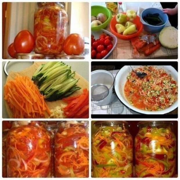 Вкуснейший салат!   Это необычный и просто вкуснейший рецепт, который я своим деткам готовлю на зиму.