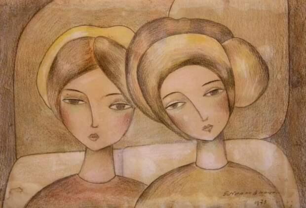 Кропивницкий  очень любил рисовать женщин
