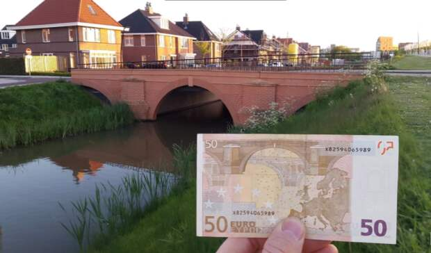 7 вымышленных мостов с купюр евро обрели реальные очертания в голландском городке