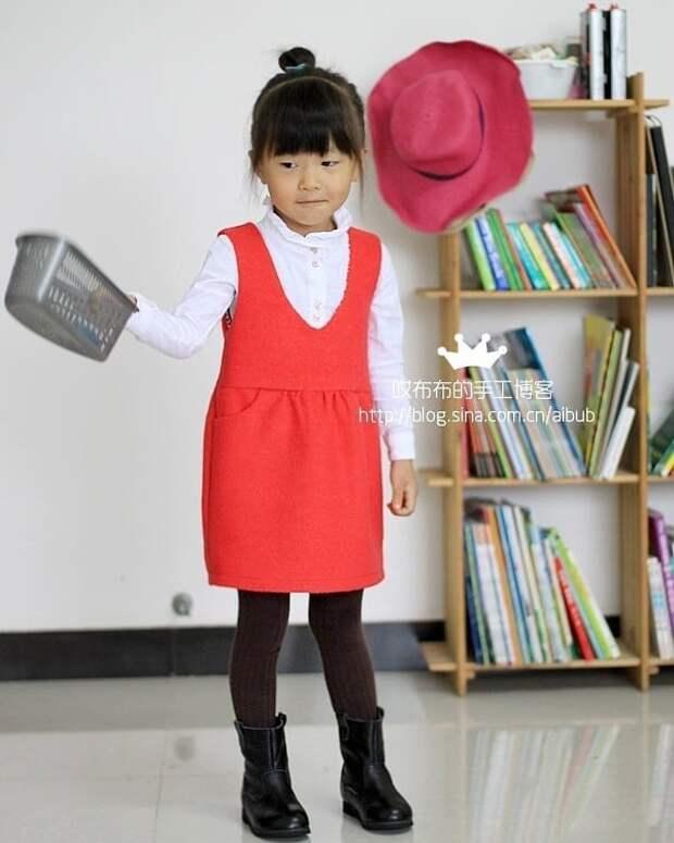 Выкройка детского сарафанчика школьная форма