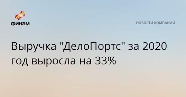 """Выручка """"ДелоПортс"""" за 2020 год выросла на 33%"""